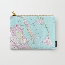 Vintage Map of Port St Lucie Inlet (1948) Carry-All Pouch