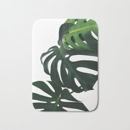 Monstera Leaf Print, Bath Mat