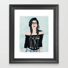 ALL IS NOT LOST Framed Art Print