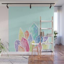 Crystals Green Wall Mural