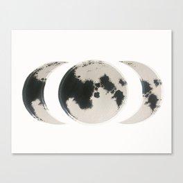 MOON TRIAD Canvas Print