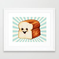 bread Framed Art Prints featuring Bread by Kelly Gilleran