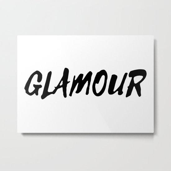 GLAMOUR Metal Print