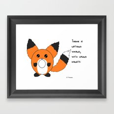 Donut fox  Framed Art Print