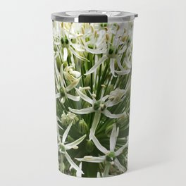 457 - White Flower Travel Mug