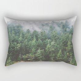 Foggy Vancouver Island Rectangular Pillow