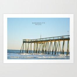 Ocean City Maryland. Art Print