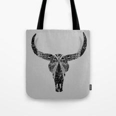 Boho Decor Skull Design Tote Bag