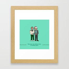 Eddie and Clark Framed Art Print