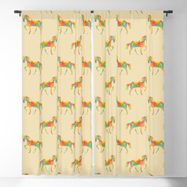 Fractal Geometric Unicorn Blackout Curtain