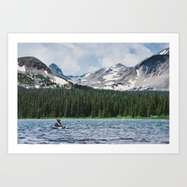 Fly Fishing In The Rocky Mountains Art Print
