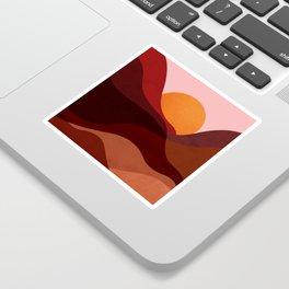 Abstraction_Mountains_SUNSET_Minimalism Sticker