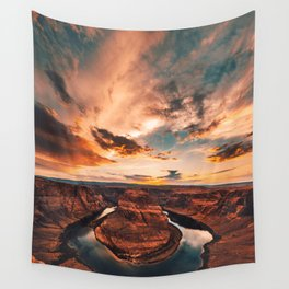 horse shoe bend canyon Wall Tapestry