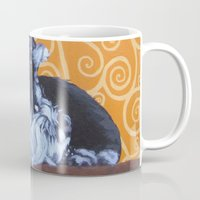 schnauzer Mugs featuring Remmington Schnauzer by Ashley Corbello