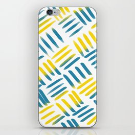 Blue Yellow Stitch iPhone Skin