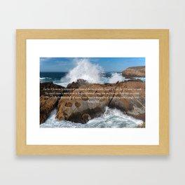 A Single Drop Into An Ocean Framed Art Print