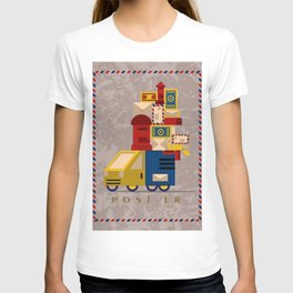Postman's Post-er poster T-shirt