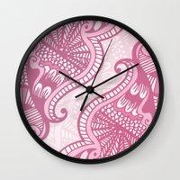 henna Wall Clocks featuring Henna Pattern by ItsJessica