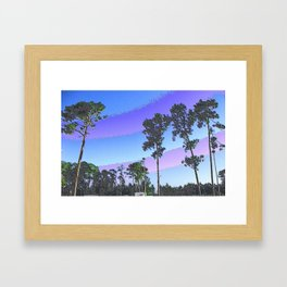 Tall Trees in Enamel Framed Art Print
