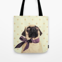 Polka Dot Pug Tote Bag