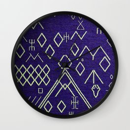 V20 Traditional Moroccan Carpet Texture. Wall Clock
