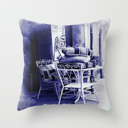Table For Two Vintage Style Throw Pillow