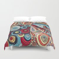 grafitti Duvet Covers featuring Summa' Time by DuckyB
