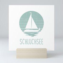 Sailing Schluchsee TShirt Segeln T Shirt Mini Art Print