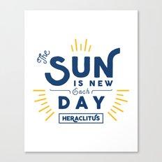 Heraclitus - The sun is new each day Canvas Print