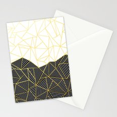 Ab Half and Half White Gold Stationery Cards