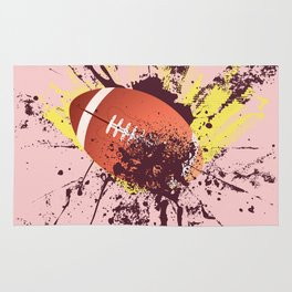 Grunge Rugby ball Rug