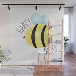 Happy Bee-Day Wall Mural