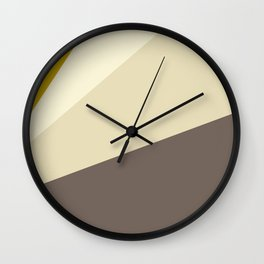 Muted gold and off-white  #society6 #decor #buyart Wall Clock
