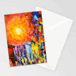 Oil Colours Stationery Cards