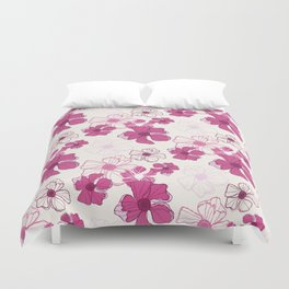 Pink Poppy Bash Duvet Cover