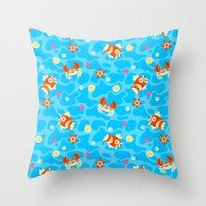 Bubble Beach Throw Pillow