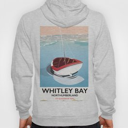 Northumberland Whitley Bay travel poster Hoody