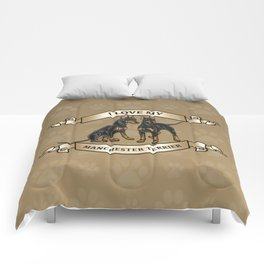 I Love My Manchester Terrier Comforters