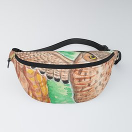 Horned Owl and Owlets in a Nest Fanny Pack