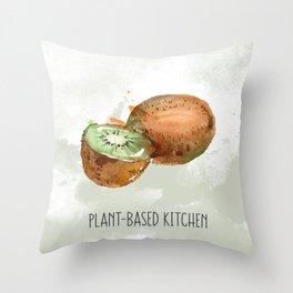 Plant-Based Kitchen Kiwi Throw Pillow