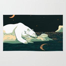 Polar Bear and the Moon Rug