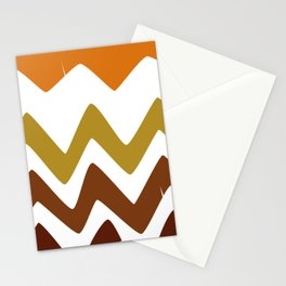 Abstract Retro shapes Set, Hand Painted Tribal Shapes, Retro Classic Colors, No 01 Stationery Cards