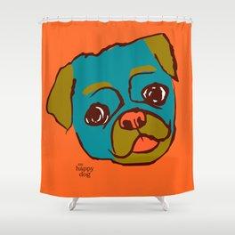 Pickle- turquise/orange Shower Curtain