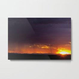 Sierra Blanca Sunset Metal Print