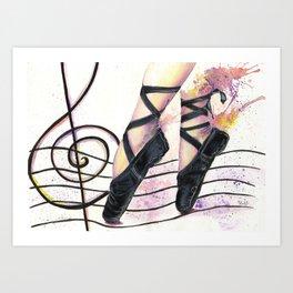 Dancing in the Street of Music Art Print