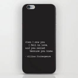 Shakespeare Quote: LOVE (white on black) iPhone Skin