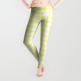 Small Diamonds - White and Pastel Yellow Leggings