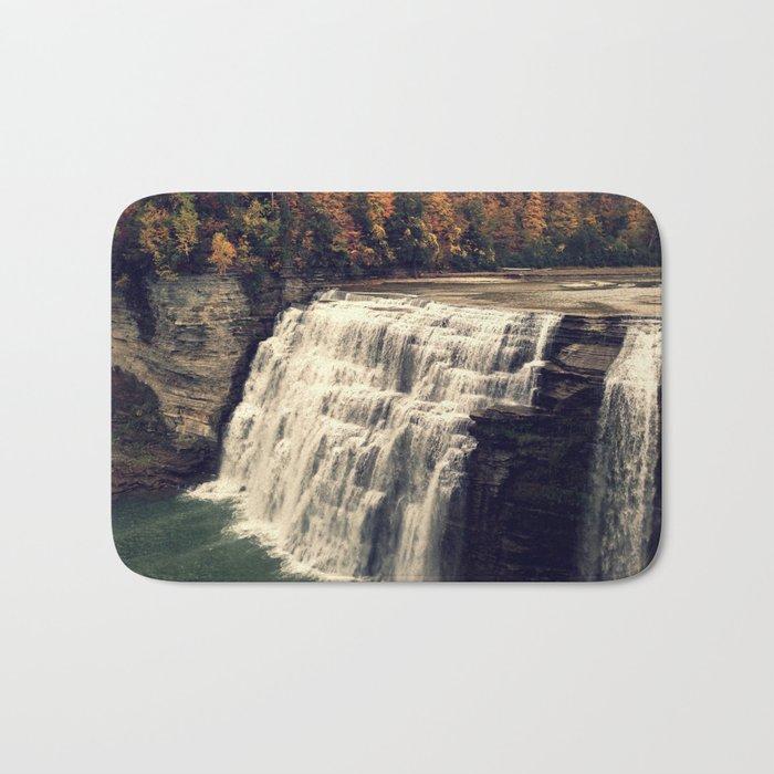 Waterfall in autumn Bath Mat