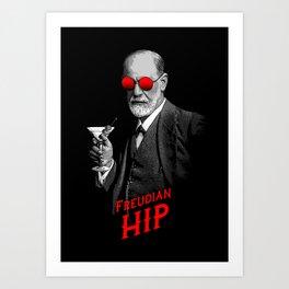 Hipster Psychologist Sigmund Freud Art Print