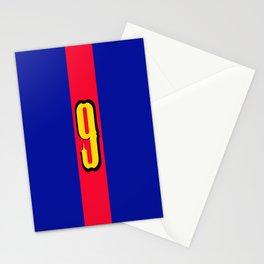 football team 1 number nine Stationery Cards